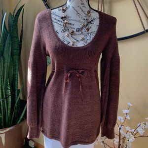 Brown Gold Speckled Sweater